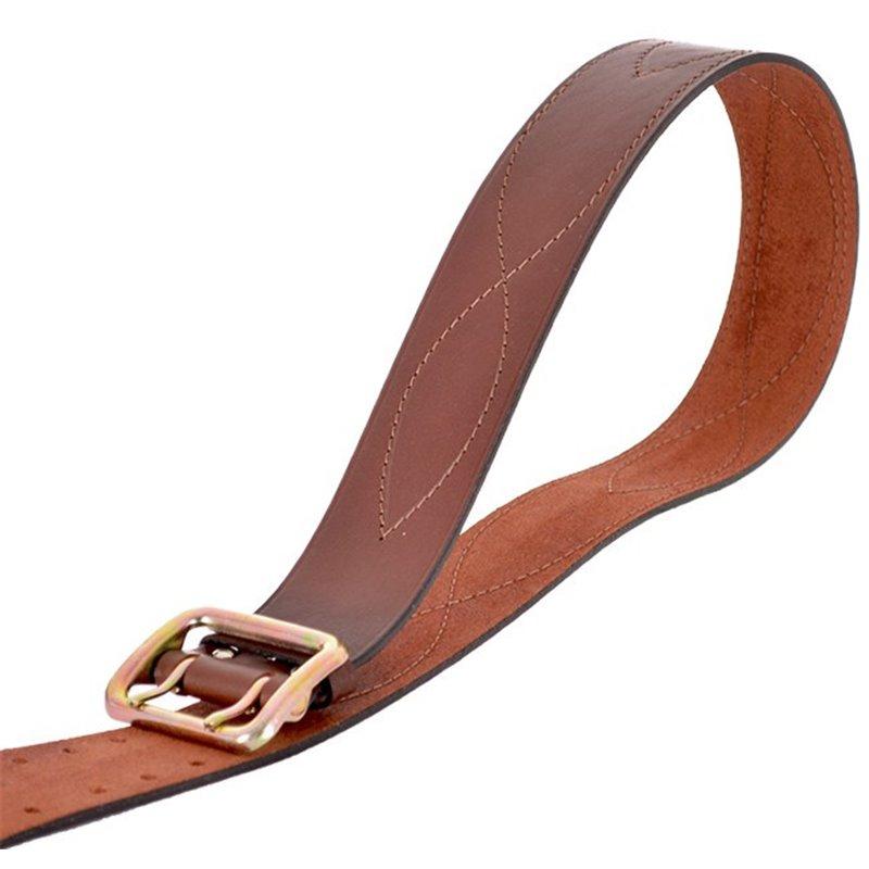 Ремень офицерский кожаный коричневый №3