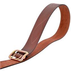 Ремень офицерский кожаный коричневый №4