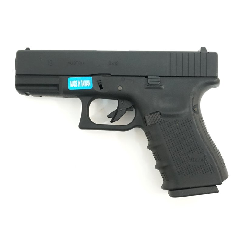 Пистолет пневм. страйкбольный WE Glock-19  gen4, металл слайд, WE-G003B-BK