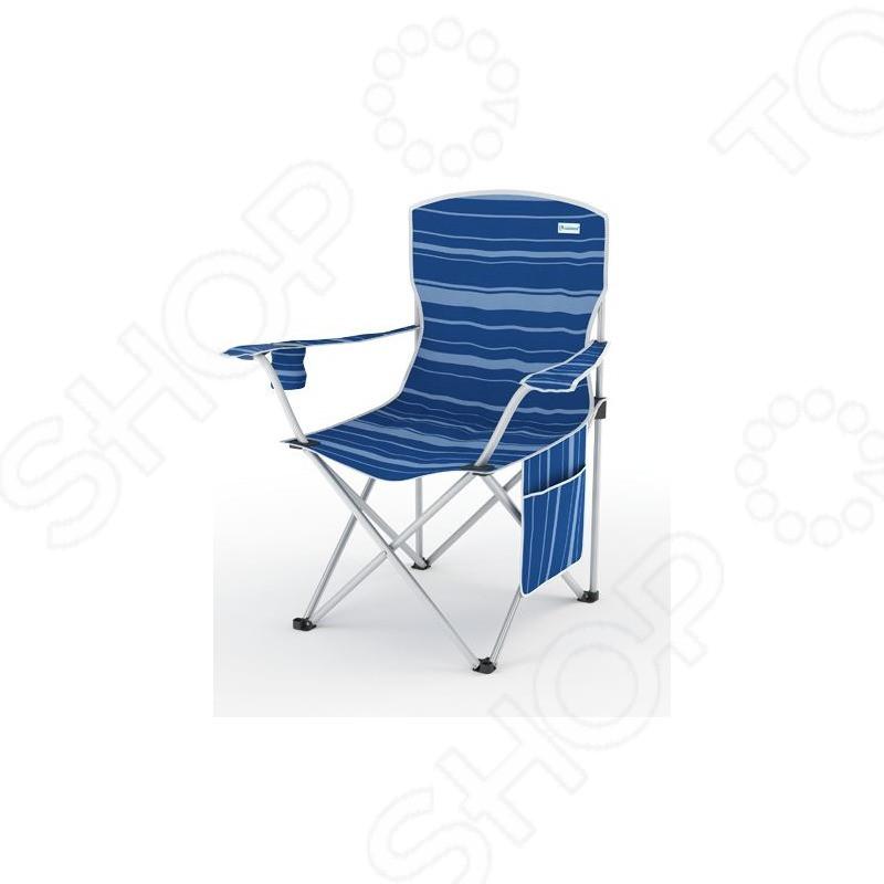 Кресло скл. в чехле усилен. ZAGOROD К502 индиго