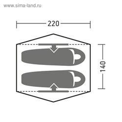 Палатка Коул 2 зеленый/серый