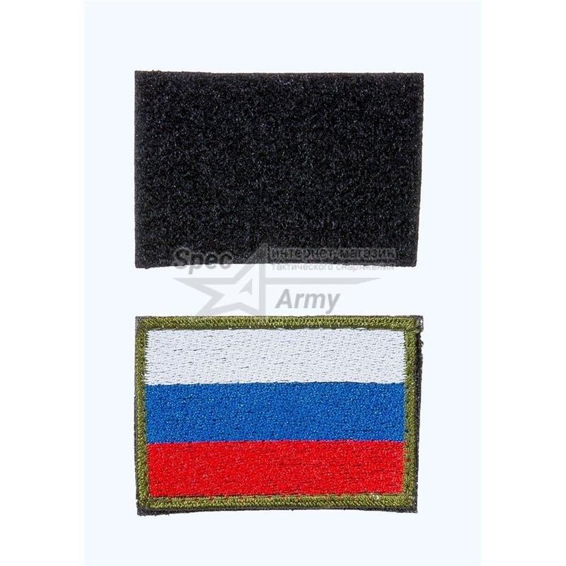 """Нашивка на липучке """"Флаг России"""", без надписи"""