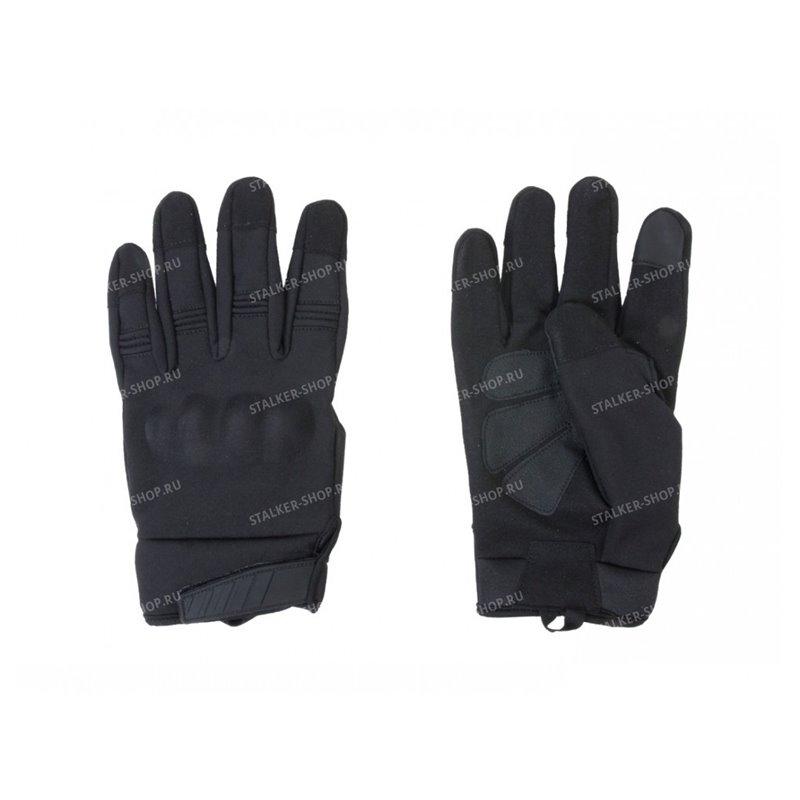 Перчатки тактические Shark Skin со вставками, черные