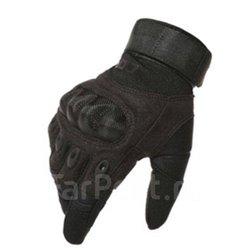 Перчатки CQB с карбоновыми вставками полнопалые коричневые