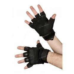 Перчатки тактические со вставкой, безпалые, rep-002black