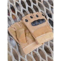 Перчатки тактические со вставкой, безпалые, rep-002coyot