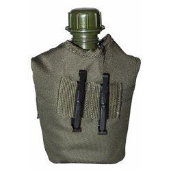 Фляга плс олива с чехлом woodland, Tactical-Pro 4005T