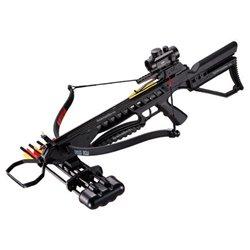Арбалет рекурсивный Man Kung - MK XB21 черный, 4 стрелы, воск, натяжитель, прицел