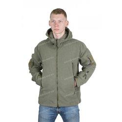Куртка флисовая с капюшоном, олива rep-010oliv