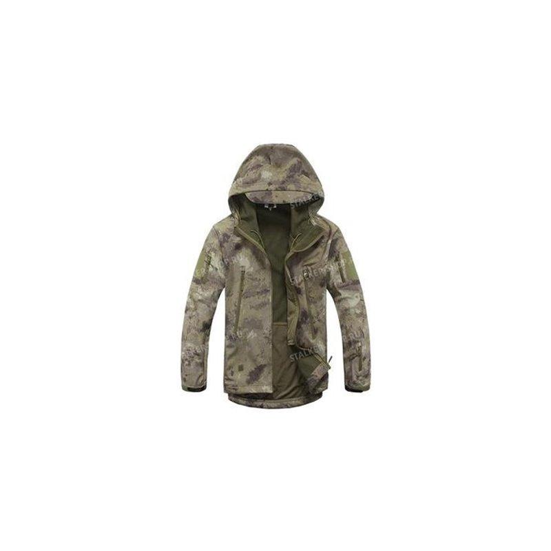 Куртка Shark Skin Soft Shell на толстом флисе, HDT-camo