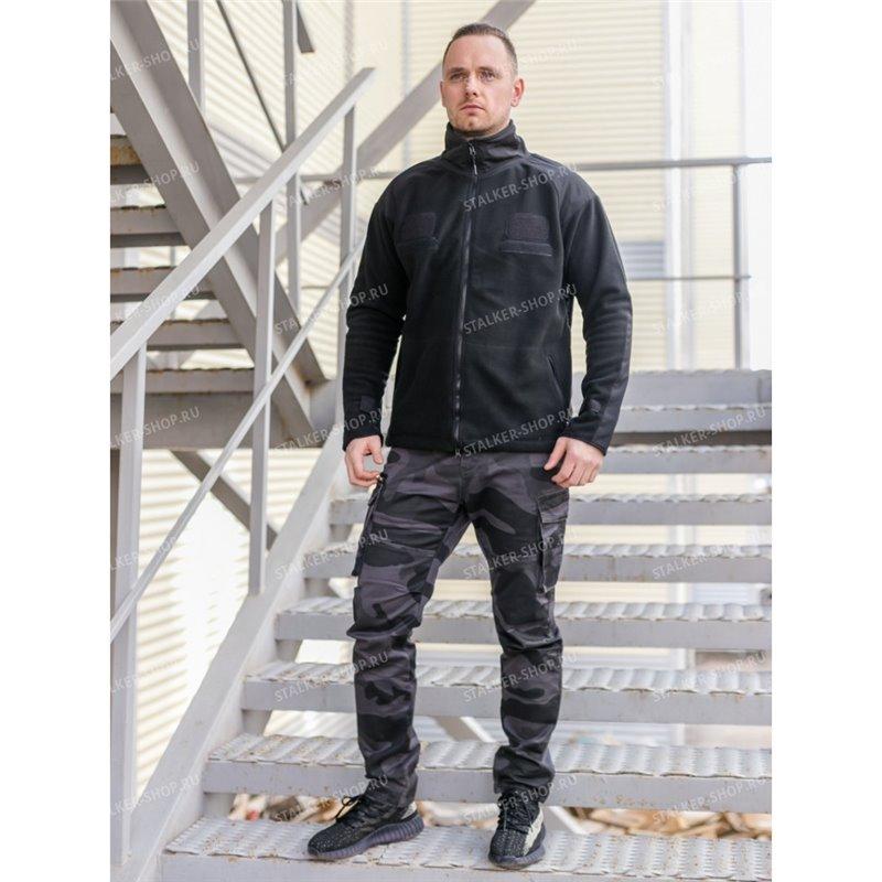 Куртка флисовая Реплика США, черная rep-055black