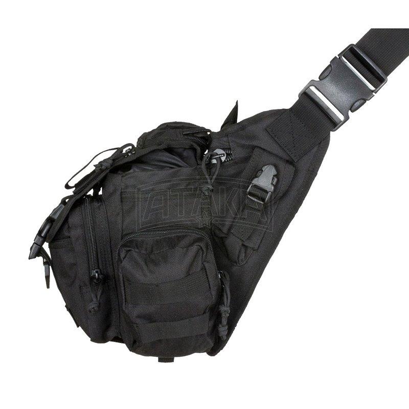 Сумка СТАЛКЕР через плечо большая, rep-095 black